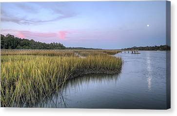 Lowcountry Marsh Grass On The Bohicket Canvas Print by Dustin K Ryan