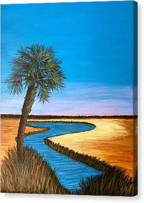 Lowcountry Marsh Canvas Print by Vanessa Cole