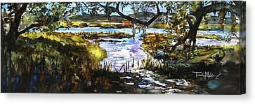 Lowcountry Summer Marsh Iv Canvas Print by Trish McKinney