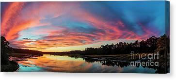 Lowcountry Sunset Charleston Sc Canvas Print by Dustin K Ryan