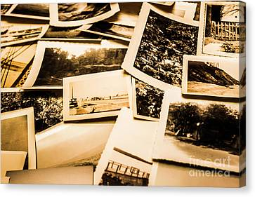 Lowdown On A Vintage Photo Collections Canvas Print by Jorgo Photography - Wall Art Gallery