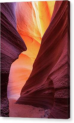 Canvas Print featuring the photograph Lower Antelope Canyon by Johnny Adolphson