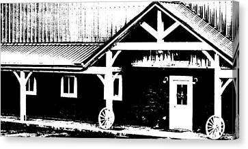 Lower Barn Canvas Print by Brian Foxx