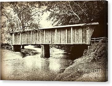 Split Rail Fence Canvas Print - Lower Bridge by Eric Liller