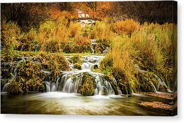 Lower Cascades At Cascade Springs Canvas Print by TL Mair