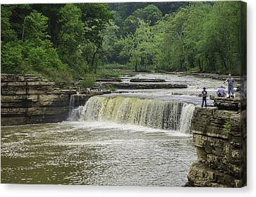 Indiana Rivers Canvas Print - Lower Cataract Falls by Phyllis Taylor