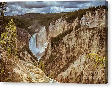 Lower Falls Framed Canvas Print