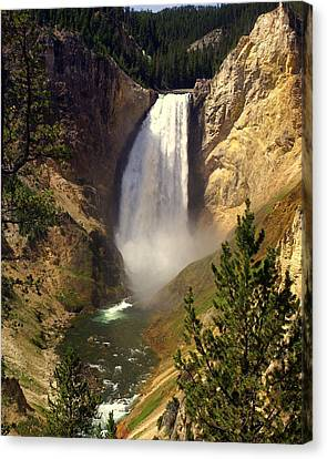 Lower Falls Canvas Print by Marty Koch