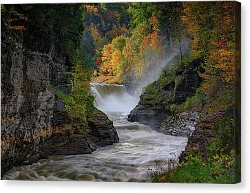 Lower Falls Of The Genesee River Canvas Print by Rick Berk