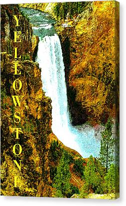 Lower Falls Of The Yellowstone Canvas Print by David Lee Thompson