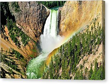 Lower Falls Rainbow Canvas Print by Greg Norrell
