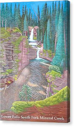 Lower Falls South Fork Mineral Creek Canvas Print by Philipp Merillat