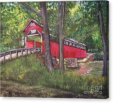 Lower Humbert Covered Bridge  Canvas Print by Reb Frost