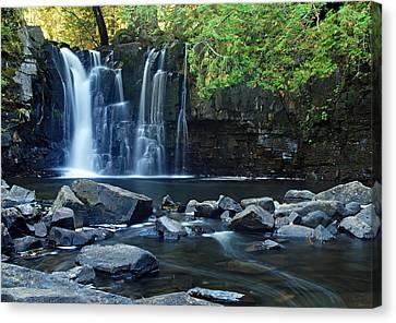 Bwcaw Canvas Print - Lower Johnson Falls by Larry Ricker