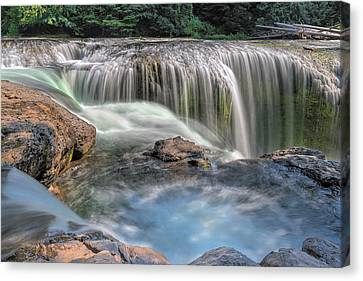 Lower Lewis River Falls Rush Canvas Print by David Gn