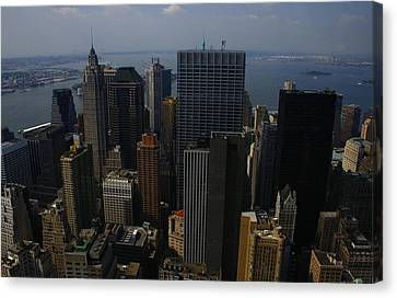 Lower Manhattan Canvas Print by Christopher Kirby