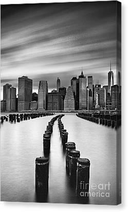 Lower Manhattan Canvas Print by John Farnan