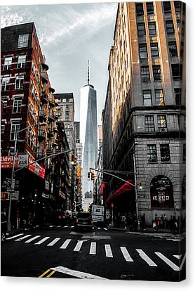 Canvas Print featuring the photograph Lower Manhattan One Wtc by Nicklas Gustafsson