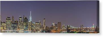 Lower Manhattan Skyline Nightscape Canvas Print by Scott McGuire