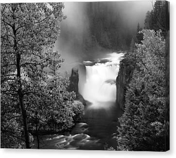 Lower Mesa Falls Canvas Print by Leland D Howard