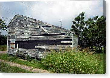 Lower Ninth Ward Canvas Print by Heather S Huston