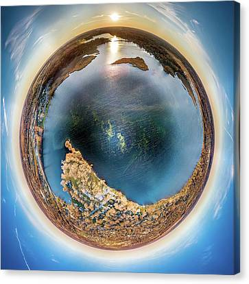 Canvas Print featuring the photograph Lower Phantom Lake Little Planet by Randy Scherkenbach