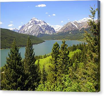 Lower Two Medicine Lake Canvas Print by Marty Koch