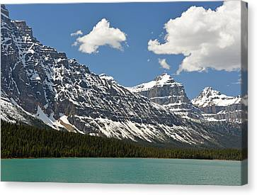 Lower Waterfowl Lake Canvas Print