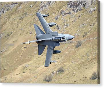 Lowflying Tornado In The Welsh Hills 01 Canvas Print by Barry Culling