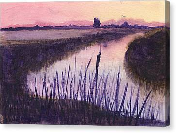 Loxahatchee Sunset Canvas Print by Donna Walsh