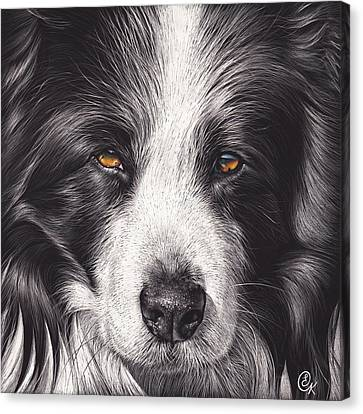 Loyal Companion Canvas Print by Elena Kolotusha