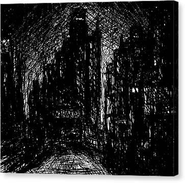 Chicago Canvas Print - L S D  P M by Rachel Christine Nowicki
