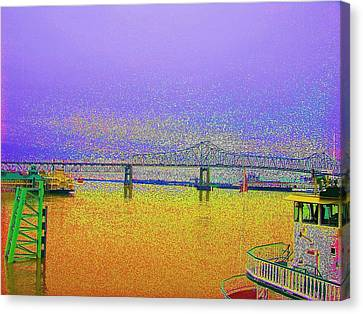 Lsu Bleeds Purple And Gold Canvas Print by Helen Haw