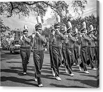 Lsu Tigers Band 5 - Bw Canvas Print by Steve Harrington