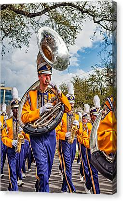 Lsu Tigers Band 6 Canvas Print by Steve Harrington