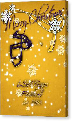Lsu Tigers Christmas Card 2 Canvas Print by Joe Hamilton