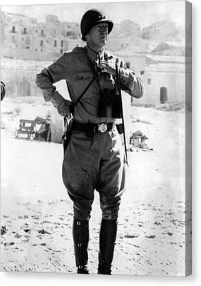 Lt. General George Patton, Sicily, 1943 Canvas Print by Everett