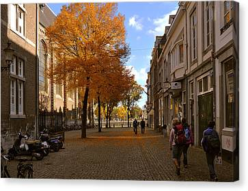 Little Lady Mary Square In October Maastricht Canvas Print by Nop Briex