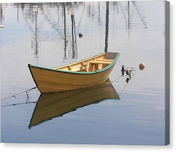 Lttle Row Boat Canvas Print by Frederic Durville