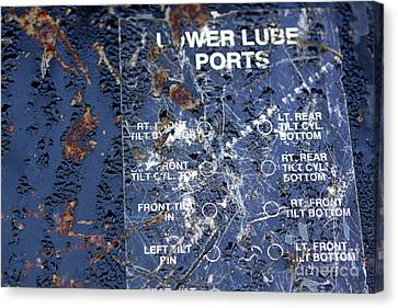 Canvas Print featuring the photograph Lube Port by Stephen Mitchell