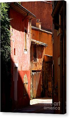 Canvas Print featuring the photograph Luberon Village Street by Olivier Le Queinec