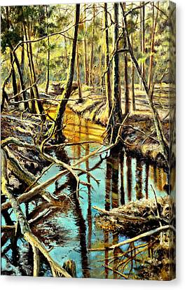 Lubianka-3-river Canvas Print by Henryk Gorecki