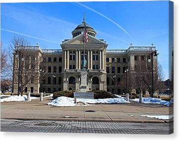 Canvas Print featuring the photograph Lucas County Courthouse I by Michiale Schneider