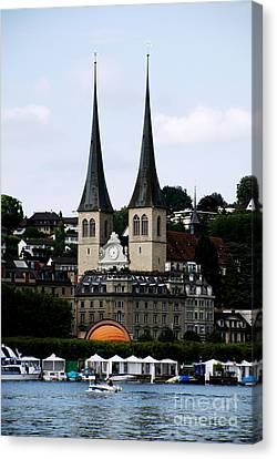 Lucerne Cathedral Canvas Print by Pravine Chester