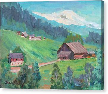 Lucerne Countryside Canvas Print by Diane McClary