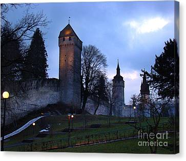 Lucerne Fortress - Painting Canvas Print by Al Bourassa