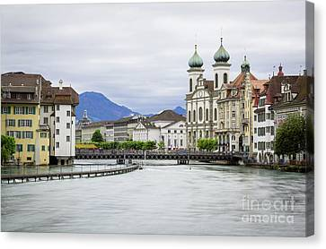 Lucerne, Switzerland Canvas Print by Sher Stoll