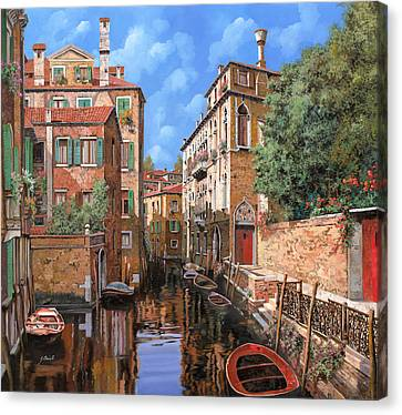 Luci A Venezia Canvas Print by Guido Borelli