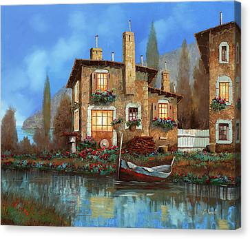 Early Morning Canvas Print - Luci Nel Blu by Guido Borelli