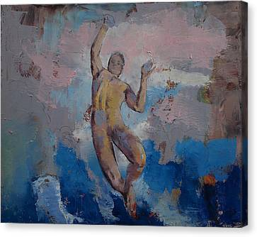 Lucifer Descending Canvas Print by Michael Creese